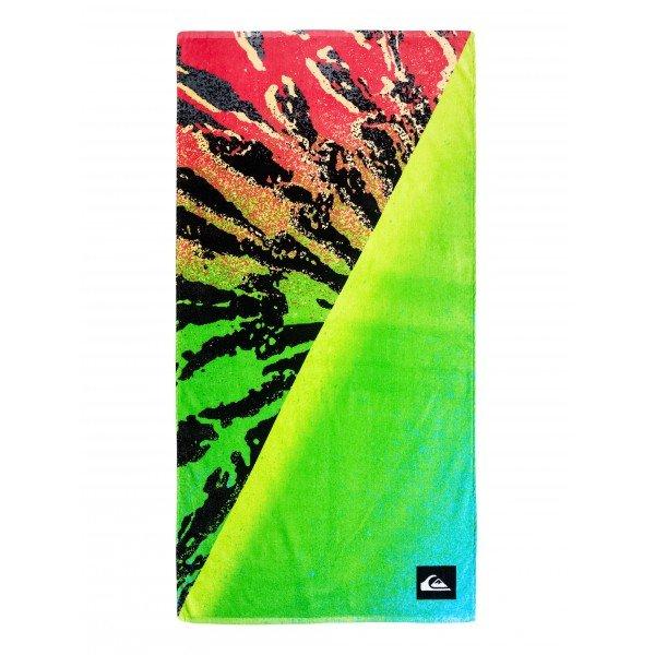 Полотенце Quiksilver Freshness Towel Fiery CoralПолотенца для пляжа<br>Универсальное мягкое пляжное полотенце, которое также можно использовать как пляжный коврик.Технические характеристики: Можно использовать как пляжный коврик.Мягкий хлопок.Двойной графический принт из коллекции Boardshort.Логотип.<br><br>Размер EU: One Size<br>Цвет: зеленый,мультиколор<br>Тип: Полотенце<br>Возраст: Взрослый<br>Пол: Мужской