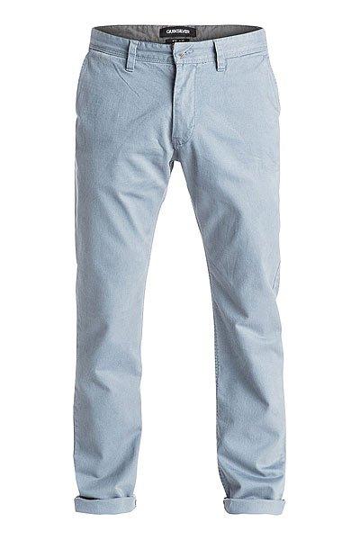Штаны прямые Quiksilver Everyday Chino Ndpt Flint StoneБрюки<br>Эти легкие брюки фасона чино EVERYDAY – необходимы для теплого время года. Идеальное сочетание комфорта и качества!Характеристики:Модель стандартного кроя, с плоскими швами. Материал - хлопчатобумажная саржа, прошедшая смягчающую силиконовую энзимообработку. Плотность ткани 227 г/кв. м. 2 боковых кармана, 2 кармана сзади.<br><br>Размер EU: W30<br>Размер EU: W29<br>Размер EU: W33<br>Размер EU: W31<br>Цвет: голубой<br>Тип: Штаны прямые<br>Возраст: Взрослый<br>Пол: Мужской