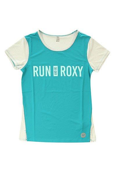 Футболка женская Roxy Cutback Tee J Kttp Dark JadeФутболки и Майки<br>Яркая женская футболка с орнаментом Cutback от ROXY.Технические характеристики: Свободный крой.Выводящая влагу ткань.Контрастная спинка.Мягкие плоские швы.<br><br>Размер EU: M<br>Цвет: белый,голубой<br>Тип: Футболка<br>Возраст: Взрослый<br>Пол: Женский