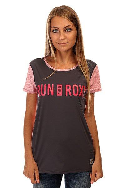 Футболка женская Roxy Cutback Tee J Kttp Dark MidnightФутболки и Майки<br>Яркая женская футболка с орнаментом Cutback от ROXY.Технические характеристики: Свободный крой.Выводящая влагу ткань.Контрастная спинка.Мягкие плоские швы.<br><br>Размер EU: L<br>Цвет: розовый,серый<br>Тип: Футболка<br>Возраст: Взрослый<br>Пол: Женский