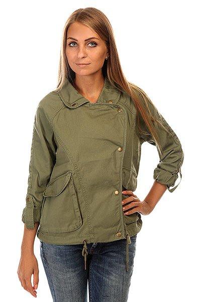 Куртка женская Roxy Watch J Jckt OlivineКуртки и Парки<br>Короткая куртка из хлопка с контрастным принтом на спине.Технические характеристики: Отложной воротник.Карманы для рук.Рукава куртки могут быть закатаны, при этом сам рукав фиксируется на кнопку.Подол на шнурке.<br><br>Размер EU: S<br>Размер EU: XS<br>Размер EU: M<br>Размер EU: L<br>Размер EU: XL<br>Цвет: зеленый<br>Тип: Куртка<br>Возраст: Взрослый<br>Пол: Женский