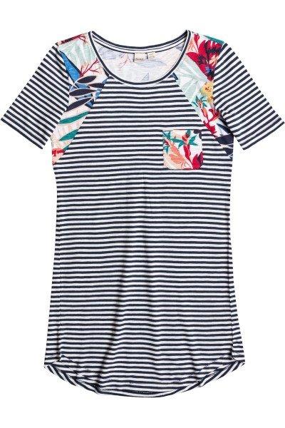 Платье женское Roxy Nautical J Ktdr Teeny Stripe EclipseПлатья<br>Просторное женское платье с принтом в полоску и контрастными цветочными панелями от ROXY.Технические характеристики: Короткие рукава.Свободный крой.Карман на груди.Платье декорировано контрастными панелями с цветочным принтом.<br><br>Размер EU: L<br>Размер EU: XS<br>Цвет: белый,синий<br>Тип: Платье<br>Возраст: Взрослый<br>Пол: Женский