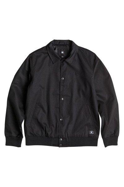 Куртка DC Dalston Jckt BlackКуртки и Парки<br>Легкая и удобная куртка для комфортных прогулок.Характеристики:Внутренняя подкладка из тафты.Застежка – кнопки. Классический воротник.Эластичные манжеты на рукавах и подоле. Два вместительных прорезных кармана.<br><br>Размер EU: S<br>Цвет: черный<br>Тип: Куртка<br>Возраст: Взрослый<br>Пол: Мужской