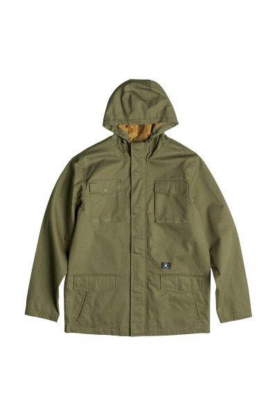 Куртка DC Mastadon 2 Jckt Vintage GreenКуртки и Парки<br>Куртка DC Mastadon создана для тепла, сухости и комфорта, а благодаря хлопковой ткани сводоотталкивающей пропиткой сохраняет вполне городской вид не в ущерб функционалу. Дизайн в стиле милитари с четырьмя карманами с клапанами на удобных потайных кнопках-магнитах позволит захватить с собой необходимые мелочи, а капюшон и высокий ворот защитят от непогоды.Характеристики:Капюшон на шнурке. Четыре вместительных кармана с клапанами на потайных магнитных кнопках. Логотип над нижним карманом. Фактурная ткань из хлопка и нейлона. Ткань с водоотталкивающей пропиткой. Пластиковая молния с клапаном на магнитных кнопках. Подкладка из полиэстера.<br><br>Размер EU: XXL<br>Цвет: зеленый<br>Тип: Куртка<br>Возраст: Взрослый<br>Пол: Мужской