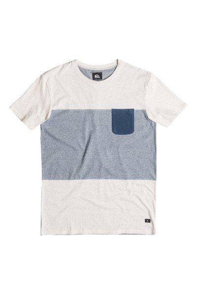 Футболка Quiksilver Capture Island Kttp Snow White HeatherФутболки и Майки<br>Легкая спортивная футболка в спокойной цветовой гамме с нагрудным карманом от Quiksilver.Технические характеристики: Короткие рукава.Свободный крой.Двухцветный дизайн.Нагрудный карман.<br><br>Размер EU: M<br>Цвет: бежевый,синий<br>Тип: Футболка<br>Возраст: Взрослый<br>Пол: Мужской