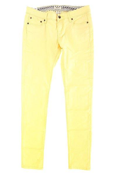 Джинсы узкие женские Roxy Suntrippers Col J Pant Golden HazeДжинсы<br>Однотонные женские джинсы Suntrippers Colors от ROXY в легком винтажном стиле.Технические характеристики: Легкий винтажный дизайн.Облегающий крой.Карманы для рук.Карман для мелочи.Задние карманы.Петли для ремня.Кожаный ярлычок с логотипом Roxy.<br><br>Размер EU: W32<br>Размер EU: W30<br>Размер EU: W26<br>Размер EU: W28<br>Размер EU: W31<br>Размер EU: W27<br>Размер EU: W25<br>Цвет: желтый<br>Тип: Джинсы узкие<br>Возраст: Взрослый<br>Пол: Женский