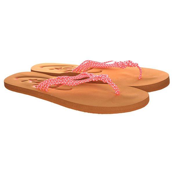 Вьетнамки женские Roxy Antigua J Sndl CoralОбувь<br>Женские вьетнамки от бренда Porto. Характеристики:Тонкий фактурный резиновый верх из текстиля. Пористая резиновая подошва, 100% каучук.<br><br>Размер EU: Roxy woman A: 7us 37 eur 23.5cm<br>Цвет: коричневый,розовый<br>Тип: Вьетнамки<br>Возраст: Взрослый<br>Пол: Женский