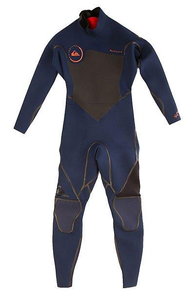Гидрокостюм (Комбинезон) Quiksilver 3/2mm Syncro Ink Blue/BlackГидрокостюмы<br>Практичный и долговечный  гидрокостюм для водных видов спорта.Технические характеристики: Неопрен FN LITE NEOPRENE толщиной 3/2 мм, который на 16% легче своих конкурентов с большим количеством воздушных капсул, сохраняющих тепло и экономящих вес.Технология Dry Flight Far Infrared Heat Technology - термо подкладка, которая сохраняет тепло тела.Неопрен THERMAL SMOOTHIE NEOPRENE - на 16% эластичнее своих конкурентов, ветро- и водоустойчивый, чтобы держать тебя в тепле.Швы LFS - тянущаяся, эластичная жидкая лента накладывается поверх швов.Молния YKK™ №10 - с молнией на спине гидрокостюм легко снимается и надевается.Технология Hydroshield предотвращает попадание воды в костюм через молнию.Наколенники ECTOFLEX - прочные, легкие и эластичные панели в районе колен.Неопрен GlideSkin в области шеи - мягкий комфортный неопреновый слой с водонепроницаемой подкладкой.Регулируемая водонепроницаемая застежка на шее Hydrowrap.Внутренние карманы для ключей.Подходит для температуры воды 15°С.Контрастный двухцветный дизайн.Логотип Quiksilver.<br><br>Размер EU: S<br>Цвет: синий,серый<br>Тип: Гидрокостюм (Комбинезон)<br>Возраст: Взрослый<br>Пол: Мужской
