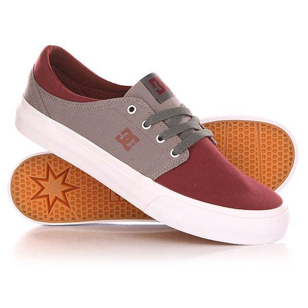 ���� ��������� ������ DC Trase Tx Shoe Oxblood/Lt Grey