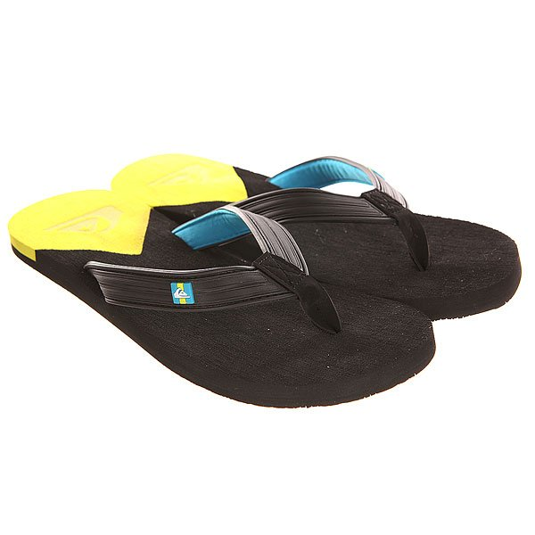 Вьетнамки Quiksilver Molokai New Del Sndl Black/Yellow