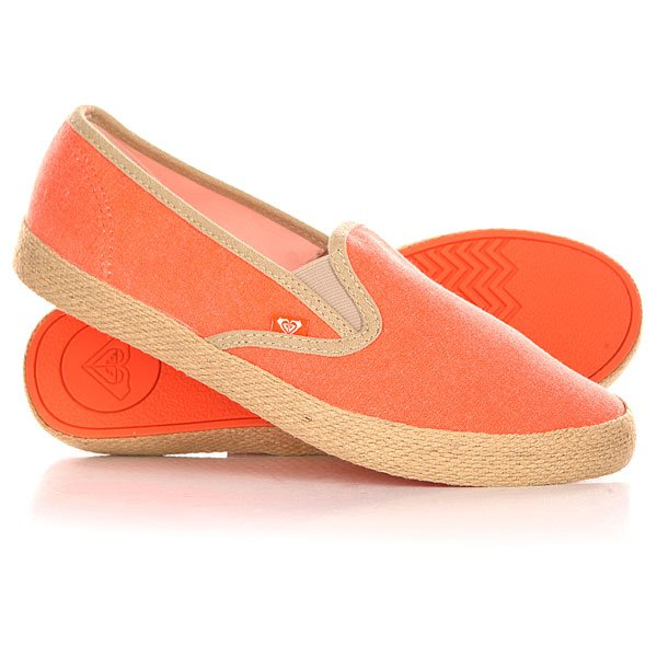 Слипоны женские Roxy Redondo Jute J Shoe Tangerine