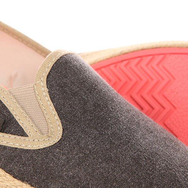 Слипоны женские Roxy Redondo Jute J Shoe Black от BOARDRIDERS