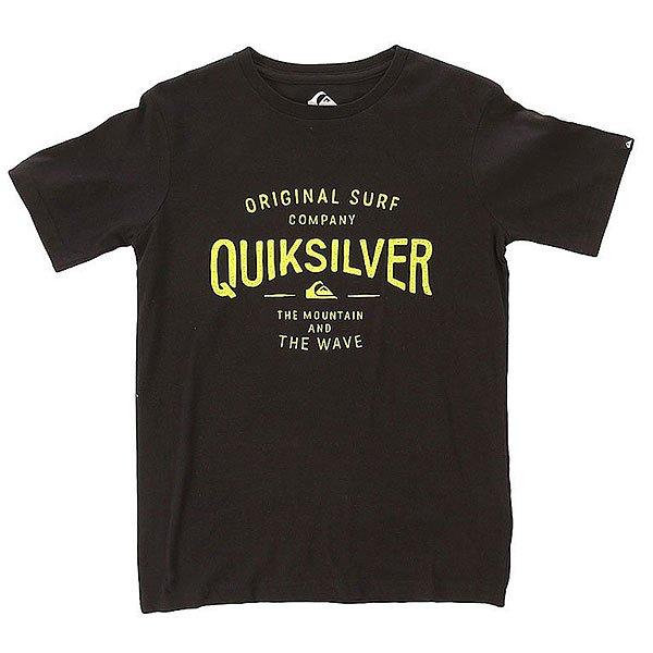 Футболка детская Quiksilver Claim It Tees AnthraciteОдежда<br>Классическая однотонная детская футболка с контрастным принтом и логотипом Quiksilver.Технические характеристики: Легкий хлопковый трикотаж.Классический фасон.Короткие рукава.Графический принт и логотип Quiksilver.<br><br>Размер EU: 12yrs<br>Цвет: черный<br>Тип: Футболка<br>Возраст: Детский