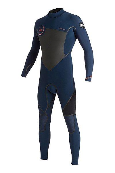 Гидрокостюм (Комбинезон) Quiksilver 3/2mm Syncro Ink Blue/BlackГидрокостюмы<br>Практичный и долговечный  гидрокостюм для водных видов спорта.Технические характеристики: Неопрен FN LITE NEOPRENE толщиной 3/2 мм, который на 16% легче своих конкурентов с большим количеством воздушных капсул, сохраняющих тепло и экономящих вес.Технология Dry Flight Far Infrared Heat Technology - термо подкладка, которая сохраняет тепло тела.Неопрен THERMAL SMOOTHIE NEOPRENE - на 16% эластичнее своих конкурентов, ветро- и водоустойчивый, чтобы держать тебя в тепле.Швы LFS - тянущаяся, эластичная жидкая лента накладывается поверх швов.Молния YKK™ №10 - с молнией на спине гидрокостюм легко снимается и надевается.Технология Hydroshield предотвращает попадание воды в костюм через молнию.Наколенники ECTOFLEX - прочные, легкие и эластичные панели в районе колен.Неопрен GlideSkin в области шеи - мягкий комфортный неопреновый слой с водонепроницаемой подкладкой.Регулируемая водонепроницаемая застежка на шее Hydrowrap.Внутренние карманы для ключей.Подходит для температуры воды 15°С.Контрастный двухцветный дизайн.Логотип Quiksilver.<br><br>Размер EU: S<br>Размер EU: M<br>Цвет: синий,серый<br>Тип: Гидрокостюм (Комбинезон)<br>Возраст: Взрослый<br>Пол: Мужской