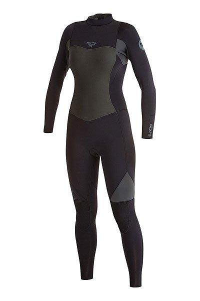 Гидрокостюм (Комбинезон) женский Roxy 3/2mm Synbz Full J BlackГидрокостюмы<br>Практичный и долговечный женский гидрокостюм для водных видов спорта.Технические характеристики: Неопрен FN Lite, который на 16% легче своих конкурентов с большим количеством воздушных капсул, сохраняющих тепло и экономящих вес.Технология Dry Flight Far Infrared Heat Technology - термо подкладка, которая сохраняет тепло тела.Неопрен THERMAL SMOOTHIE NEOPRENE - на 16% эластичнее своих конкурентов, ветро- и водоустойчивый, чтобы держать тебя в тепле.Тройные проклеенные и прошитые швы GBS.Технология Hydroshield предотвращает попадание воды в костюм через молнию.Неопрен GlideSkin в области шеи.Молния YKK™№10 с длинной лентой для удобного надевания.Регулируемая водонепроницаемая застежка на шее Hydrowrap.Наколенники ECTOFLEX - прочные, легкие и эластичные панели в районе колен.Внутренние карманы для ключей.Толщина 3/2 мм.Контрастный дизайн.Логотип Roxy.<br><br>Размер EU: 10<br>Цвет: черный<br>Тип: Гидрокостюм (Комбинезон)<br>Возраст: Взрослый<br>Пол: Женский
