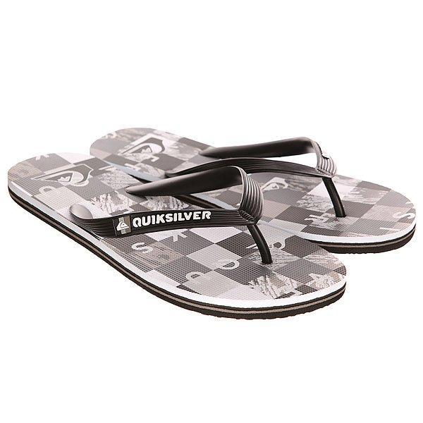 Вьетнамки Quiksilver Molokai Check R M Sndl Black/Grey/White