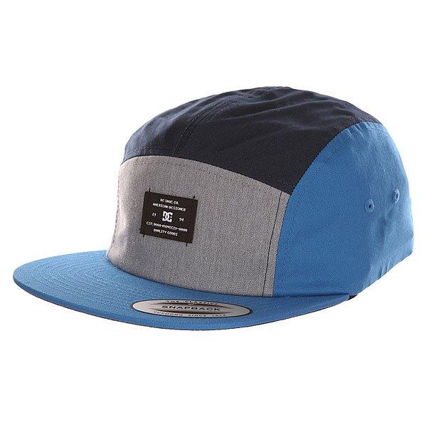 Бейсболка пятипанелька DC Campy Blue IrisБейсболки<br><br><br>Размер EU: One Size<br>Цвет: синий,серый,голубой<br>Тип: Бейсболка пятипанелька<br>Возраст: Взрослый<br>Пол: Мужской