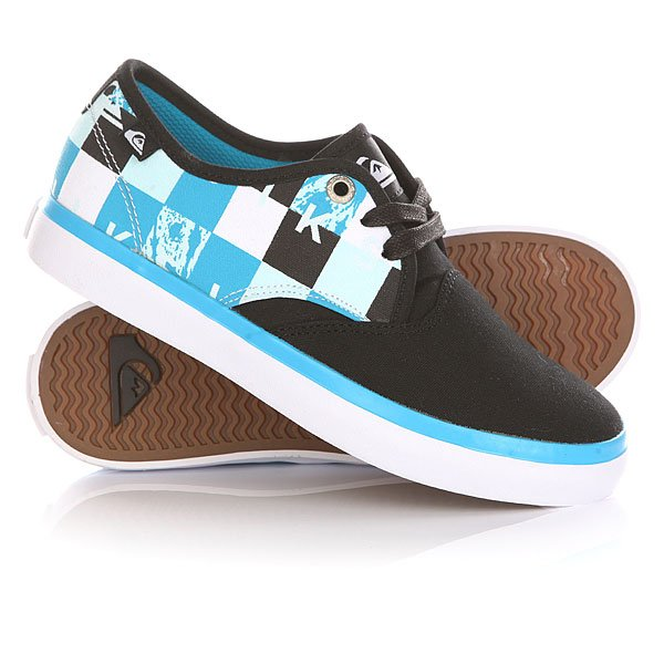 Кеды кроссовки низкие детские Quiksilver Shore Break Delux Black/Blue/White