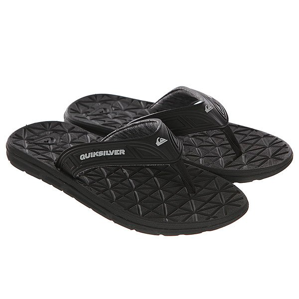 Вьетнамки Quiksilver Fluid Black/Grey/Black