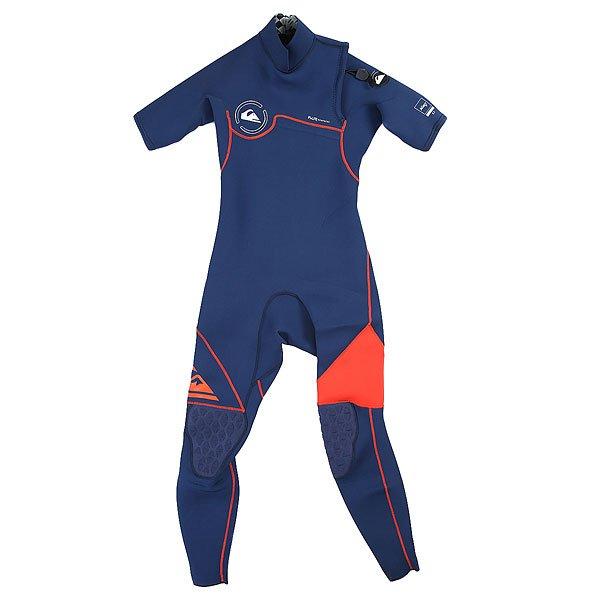 Гидрокостюм (Комбинезон) детский Quiksilver 2/2mm Ag47 Zipless  Ink Blue/ OrangeСерфинг<br><br><br>Размер EU: 10yrs<br>Цвет: синий<br>Тип: Гидрокостюм (Комбинезон)<br>Возраст: Детский