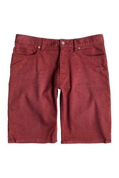Шорты джинсовые DC Colour Shorts SyrahШорты<br>Классические джинсовые шорты, без которых невозможно представить летний гардероб.Характеристики:Straight fit. 5 карманов. Вышитый логотип на заднем кармане.<br><br>Размер EU: W32<br>Цвет: бордовый<br>Тип: Шорты джинсовые<br>Возраст: Взрослый<br>Пол: Мужской