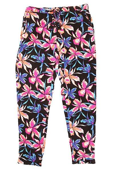 Штаны прямые женские Roxy Palm Trees Pant True Black Maui Ligh
