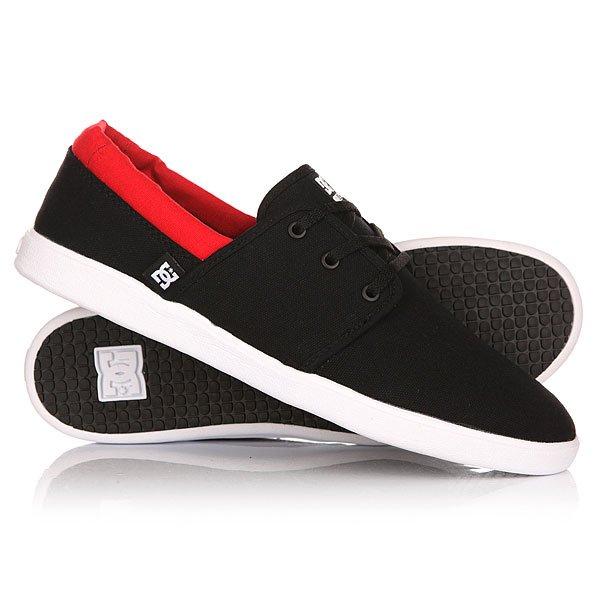 Кеды кроссовки низкие DC Haven Black/RedКеды<br>Минималистичные текстильные кеды Haven с мягким пенным наполнителем в районе лодыжки и гибкой каучуковой подошвой. Фирменный рисунок протектора подошвы DC Pill Pattern и антибактериальная подкладка Agion® напоминают о том, что эти кеды - не просто повседневная обувь, но и классный вариант для катания.Характеристики:Отверстия для шнурков с металлической окантовкой. Декоративные отверстия в районе подъема стопы. Лодыжка с пенным наполнителем. Мягкая стелька из полимера EVA. Легкая и виброгасящая конструкция Unilite cupsole. Фирменный рисунок протектора подошвы DC Pill Pattern. Антибактериальная подкладка Agion®.Ярлык DC.<br><br>Размер EU: DC man B: 8us 40.5eur 26.25cm<br>Размер EU: 45<br>Размер US: 11.5<br>Размер CM: 29<br>Размер EU: DC man B: 12us 46eur 29.25cm<br>Размер EU: 47<br>Размер US: 13<br>Размер CM: 30<br>Цвет: черный<br>Тип: Кеды низкие<br>Возраст: Взрослый<br>Пол: Мужской