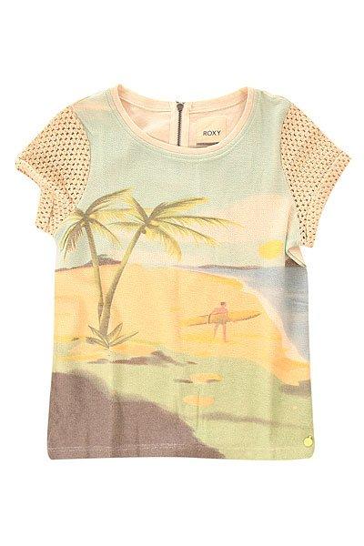 Футболка женская Roxy Tenerife A Metro HeatherФутболки и Майки<br>Трикотажная женская футболка с короткими рукавами Tenerife от ROXY.Технические характеристики: Легкий трикотаж в крапинку.Стандартный крой.Короткие рукава из хлопка-кроше.Короткая молния на спинке.Трафаретный принт ROXY спереди.<br><br>Размер EU: M<br>Размер EU: L<br>Цвет: мультиколор<br>Тип: Футболка<br>Возраст: Взрослый<br>Пол: Женский