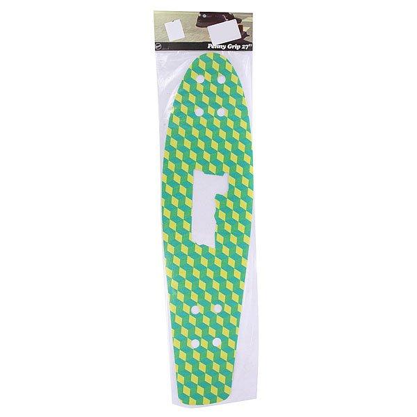 Шкурка для скейтборда для лонгборда Penny Griptape 27 Cubic GreenАксессуары для скейтбординга<br>Яркая шкурка Penny для деки обеспечит прочное сцепление подошвой и выдаст в Вас творческую личность. Характеристики:Для модели Nickel 27.<br><br>Размер EU: 27 (68.6 см)<br>Цвет: зеленый<br>Тип: Шкурка для лонгборда<br>Возраст: Взрослый<br>Пол: Мужской