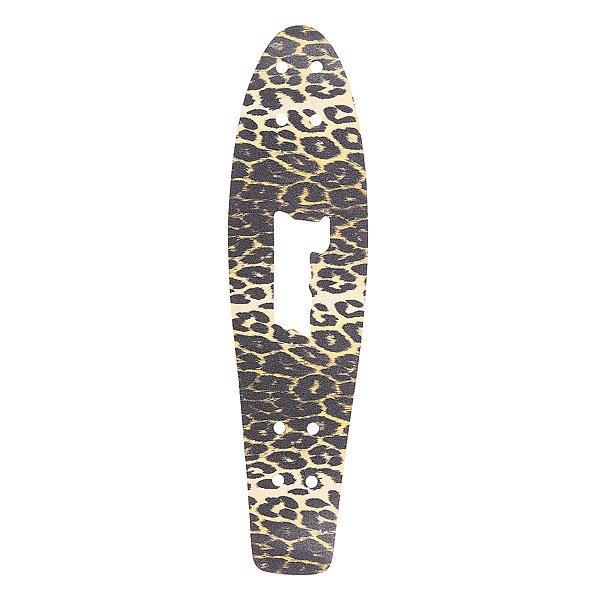 Шкурка для скейтборда для лонгборда Penny Griptape 27 LeopardАксессуары для скейтбординга<br>Яркая шкурка Penny для деки обеспечит прочное сцепление подошвой и выдаст в Вас творческую личность. Характеристики:Для модели Nickel 27.<br><br>Размер EU: 27 (68.9 см)<br>Цвет: черный,бежевый<br>Тип: Шкурка для лонгборда<br>Возраст: Взрослый<br>Пол: Мужской