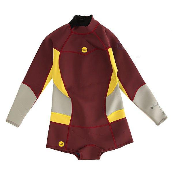 Гидрокостюм (Комбинезон) детский Roxy 2/2mm Back Zip UniСерфинг<br><br><br>Размер EU: 14yrs<br>Цвет: бордовый,желтый,серый<br>Тип: Гидрокостюм (Комбинезон)<br>Возраст: Детский