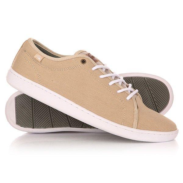 Кеды кроссовки низкие Quiksilver Cove Canvas Shoe Tan/Solid