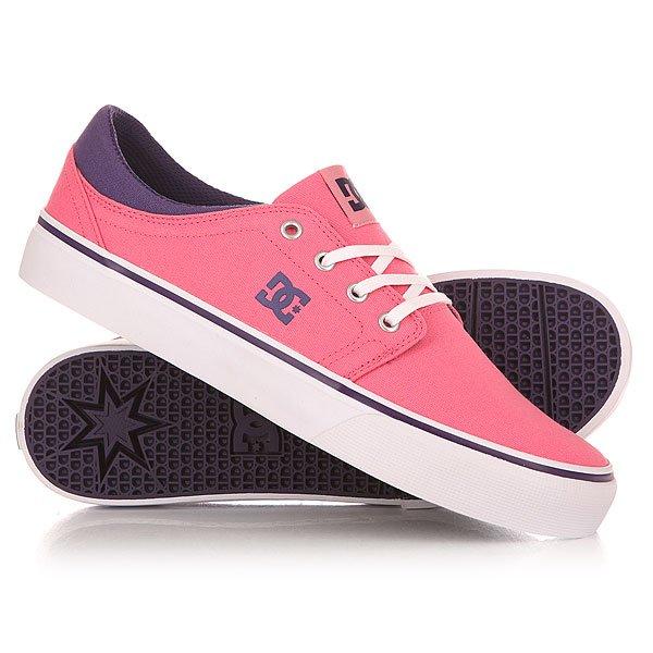 Кеды кроссовки низкие женский DC Shoes Trase Tx J Pink/Boysenberry