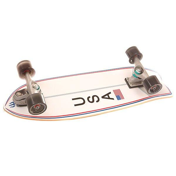 Скейт круизер Carver C7 Complete Usa Booster Ano Assorted 9.5 x 30 (76.2 см)Лонгборды<br>Скейт, созданный с учетом пожеланий профессиональных спортсменов Америки. Он имеет слегка задранный нос повышающий устойчивость передней ноги, полноценный киктейл и запатентованную переднюю подвеску С7, создающую эффект катания на сёрфе.Технические характеристики: Материал - клен.Длина - 76,2 см, ширина - 24,1 см.Колесная база 40,6 см.Нос  9,5 см.Хвост 16,2 см.Подвеска Carver C7.Шкурка.<br><br>Размер EU: 30 (76.2 см)<br>Цвет: белый,серый<br>Тип: Скейт круизер