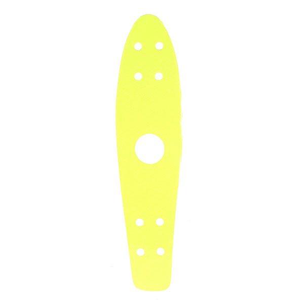 Шкурка для скейтборда для лонгборда Penny Griptape 22 Ano YellowЛонгборды<br>Яркая шкурка Penny для деки обеспечитпрочное сцеплениеподошвой и выдаств Вас творческую личность. Характеристики:Для модели Original 22.<br><br>Размер EU: 22 (55.9 см)<br>Цвет: желтый<br>Тип: Шкурка для лонгборда