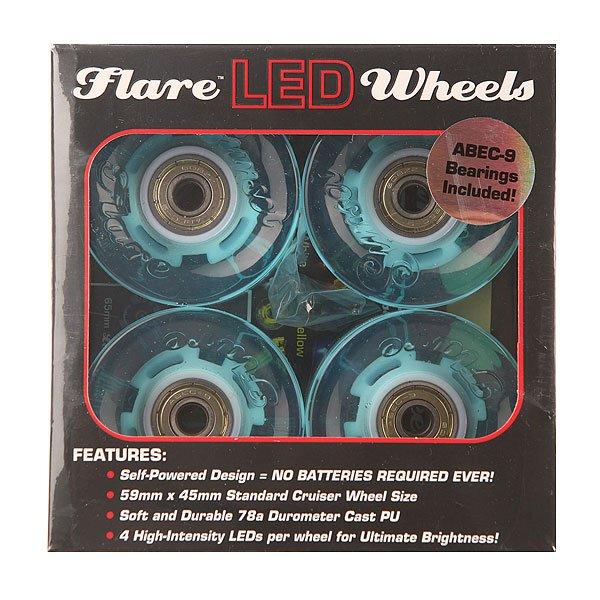 Колеса для скейтборда для лонгборда Sunset Cruiser Wheel With Abec9 Aqua Ano 78A 59 mmЛонгборды<br>Диаметр: 59 mm    Жесткость: 78A    Цена указана за комплект из 4-х колес<br><br>Размер EU: 59 mm<br>Цвет: голубой<br>Тип: Колеса для лонгборда