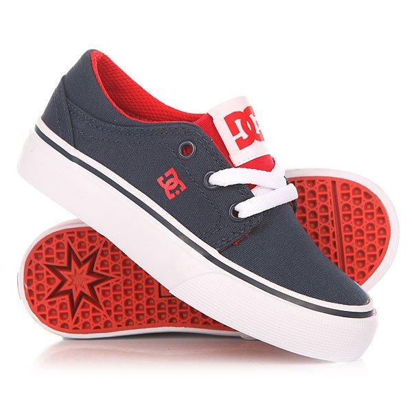 Кеды кроссовки низкие детские DC Trase Tx Nrd Navy/Red