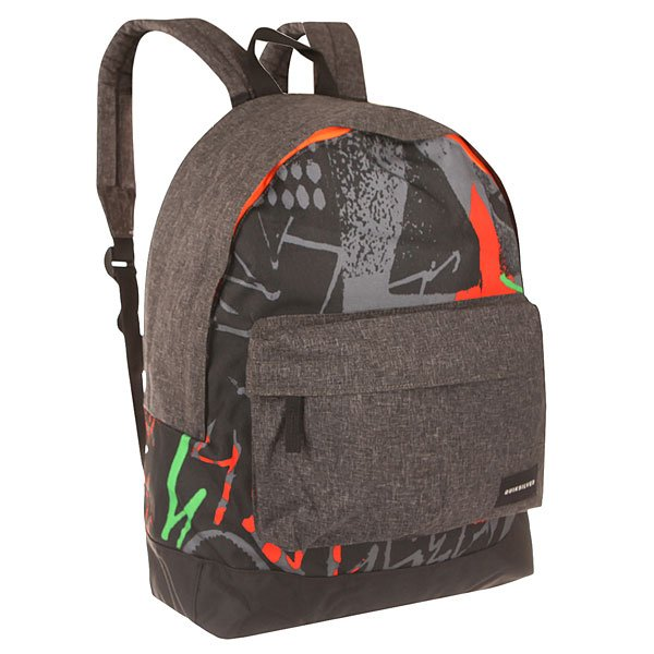Рюкзак городской Quiksilver Everyday Poster Labyrinth GreenРюкзаки и Сумки<br>Компактный и удобный рюкзак на каждый день. Рюкзак без лишних деталей позволит Вам использовать его пространство так, как Вам нужно, на тренировку, на учебу или в поездку!Технические характеристики: Прочный полиэстер 600D.Основное отделение на молнии.Передний карман на молнии.Регулируемые плечевые ремни.Логотип Quiksilver.<br><br>Размер EU: 15 л.<br>Цвет: серый,черный<br>Тип: Рюкзак городской<br>Возраст: Взрослый<br>Пол: Мужской