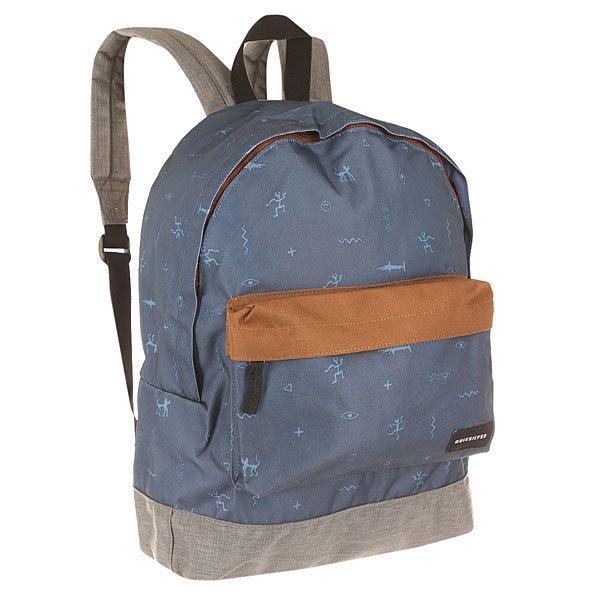 Рюкзак городской Quiksilver Everyday Poster Shark Bait BearРюкзаки и Сумки<br>Компактный и удобный рюкзак на каждый день. Рюкзак без лишних деталей позволит Вам использовать его пространство так, как Вам нужно, на тренировку, на учебу или в поездку!Технические характеристики: Прочный полиэстер 600D.Основное отделение на молнии.Передний карман на молнии.Регулируемые плечевые ремни.Логотип Quiksilver.<br><br>Размер EU: 15 л.<br>Цвет: синий,серый,коричневый<br>Тип: Рюкзак городской<br>Возраст: Взрослый<br>Пол: Мужской