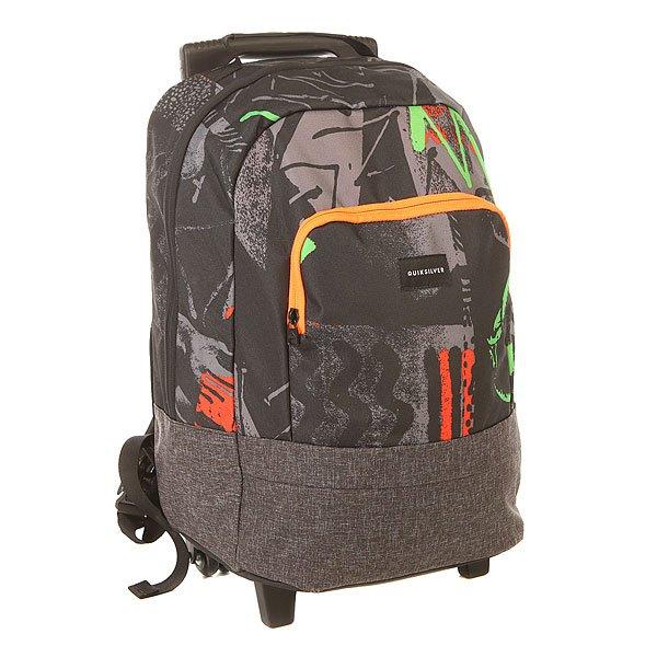 Сумка дорожная детская Quiksilver Hallpass Labyrinth GreenАксессуары<br>Детский практичный рюкзак на колесах – то, что надо школьнику, чтобы не таскать на спине неподъемные книги или настоящая находка для вашего ребенка в путешествии. Компактно и практично, и в прекрасном исполнении от QuikSilver.Характеристики:1 основной отсек на молнии. Отсек для ноутбука. Боковые сетчатые карманы. Передний карман-органайзер.Флисовый карман на молнии.Выдвижная телескопическая ручка. Роликовые колеса.Регулируемые заплечные лямки.<br><br>Размер EU: 30 л.<br>Цвет: черный,серый<br>Тип: Сумка дорожная<br>Возраст: Детский