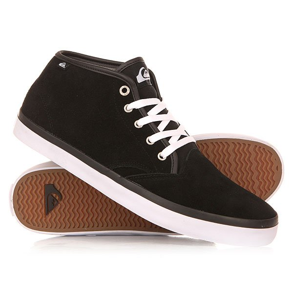 ���� ��������� ������� Quiksilver Shorebrksuedmid Shoe Black/Black/White