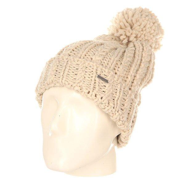 Шапка женская Roxy Love Metro HeatherШапки<br>Уютная вязаная шапка с помпоном от Roxy укутает своим теплом холодной зимой.Технические характеристики: Объемный дизайн.Крупная вязка.Большой помпон на макушке.Отворот с металлическим логотипом Roxy.<br><br>Размер EU: One Size<br>Цвет: бежевый<br>Тип: Шапка<br>Возраст: Взрослый<br>Пол: Женский
