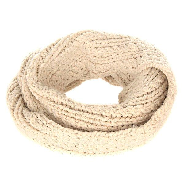 Шарф снуд женский Roxy Love Metro HeatherШарфы<br>Уютный вязаный шарф от Roxy укутает своим теплом холодной зимой.Технические характеристики: Объемный дизайн.Крупная вязка.Металлический логотип Roxy.<br><br>Размер EU: One Size<br>Цвет: бежевый<br>Тип: Шарф снуд<br>Возраст: Взрослый<br>Пол: Женский