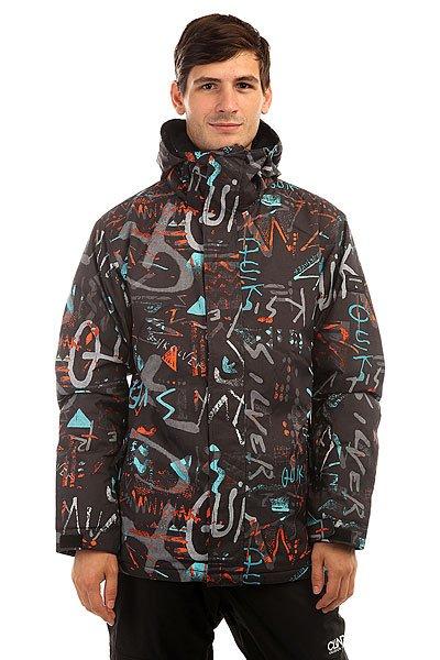Куртка утепленная Quiksilver Mission Print Hieline Blue от BOARDRIDERS