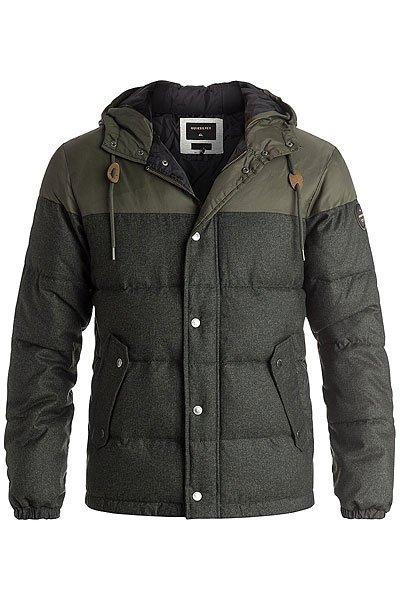 Куртка зимняя Quiksilver Woolmore Forest NightКуртки и Парки<br>Мужская куртка Quiksilver из зимней коллекции одежды.Характеристики:Стандартный крой. Контрастная подкладка.Фиксированный капюшон с регулировкой. Боковые карманы для рук.<br><br>Размер EU: XXL<br>Размер EU: M<br>Размер EU: XS<br>Размер EU: S<br>Размер EU: L<br>Размер EU: XL<br>Цвет: зеленый<br>Тип: Куртка зимняя<br>Возраст: Взрослый<br>Пол: Мужской