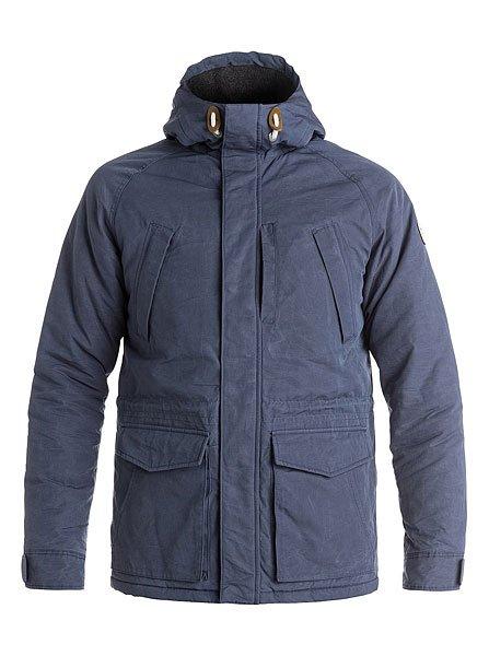 Куртка зимняя Quiksilver Sealakes Jckt Nightshadow BlueКуртки и Парки<br>Осень уже не за горами, поэтому стоит подумать о том, чем Вы будете себя утеплять, когда погода будет менее комфортной. И Quiksilver Sealakes - отличный вариант! Теплый и комфортный фланелевый подклад, стеганый дизайн, обилие карманов - эта куртка станет Вашим вторым домом, который будет держать Вас в тепле и уюте даже тогда, когда на улице все совсем грустно. Характеристики:Эффект воскового покрытия.Матовая фланелевая подкладка. Стеганый дизайн. Рукава реглан. 3 кармана на груди. 2 накладных кармана с клапанами. Капюшон со шнурком-утяжкой.Кожаная нашивка с логотипом на рукаве. Водоотталкивающая пропитка.<br><br>Размер EU: XL<br>Размер EU: L<br>Размер EU: XS<br>Размер EU: M<br>Размер EU: S<br>Цвет: синий<br>Тип: Куртка зимняя<br>Возраст: Взрослый<br>Пол: Мужской