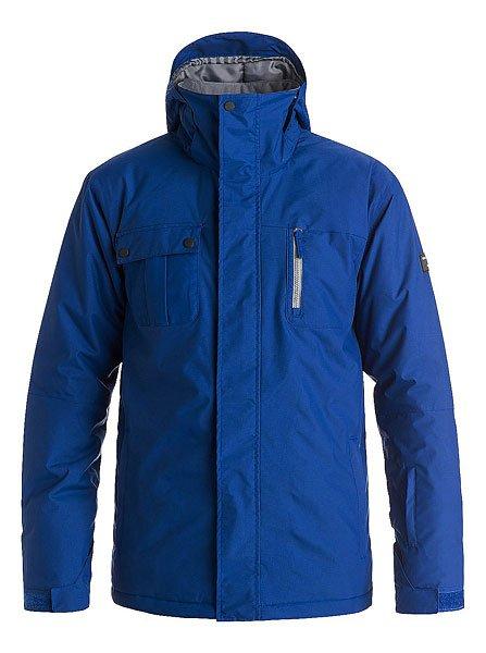 Куртка утепленная Quiksilver Mission Solid Sodalite BlueКуртки и Парки<br>Стильная куртка с лаконичным дизайном в стиле колорблок позволит оставаться в тепле и сухости на протяжении всего дня катания благодаря верхнему влагостойкому слою Dry Flight 10K и утеплителю Polyfill. Удобный карман для скипасса на рукаве, внутренний карман для очков, высокий ворот с мягкой подкладкой и карабин для ключей - в этой куртке Вы найдете все самое необходимое для комфортного катания, а стильный дизайн с правильным сочетанием цветов составит отличную базу для Вашего снежного лука.Характеристики:Влагостойкая ткань Dry Flight 10K.Утеплитель: Polyfill 120 г (тело) / 100 г (рукава и капюшон). Подкладка: тафта. Прямой крой.Проклеенные в стратегических местахшвы. Сетчатые карманы для вентиляции.Съемная снегозащитная юбка. Регулируемый капюшон. Система прикрепления куртки к штанам. Подкладка из микрофибры в зоне подбородка для защиты от натирания.Вышитый логотип Quiksilver на груди. Внутренние манжеты из лайкры.Регулируемые манжеты на липучке. Карман на молнии на рукаве для ски-пасса.Вертикальный нагрудный карман на молнии. Карабин для ключей.Утягивающийся подол. Небольшой логотип на груди. Логотип на спине около подола. Два кармана для рук на молнии. Внутренний сетчатый карман.Коллекция Snow Everyday.<br><br>Размер EU: M<br>Размер EU: XL<br>Размер EU: XXL<br>Размер EU: L<br>Размер EU: S<br>Размер EU: XS<br>Цвет: синий<br>Тип: Куртка утепленная<br>Возраст: Взрослый<br>Пол: Мужской