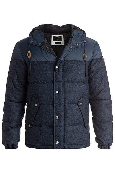 Куртка зимняя Quiksilver Woolmore Navy Blazer HeatherКуртки и Парки<br>Мужская куртка Quiksilver из зимней коллекции одежды.Характеристики:Стандартный крой. Контрастная подкладка.Фиксированный капюшон с регулировкой. Боковые карманы для рук.<br><br>Размер EU: M<br>Размер EU: L<br>Размер EU: XL<br>Размер EU: S<br>Размер EU: XS<br>Размер EU: XXL<br>Цвет: синий<br>Тип: Куртка зимняя<br>Возраст: Взрослый<br>Пол: Мужской