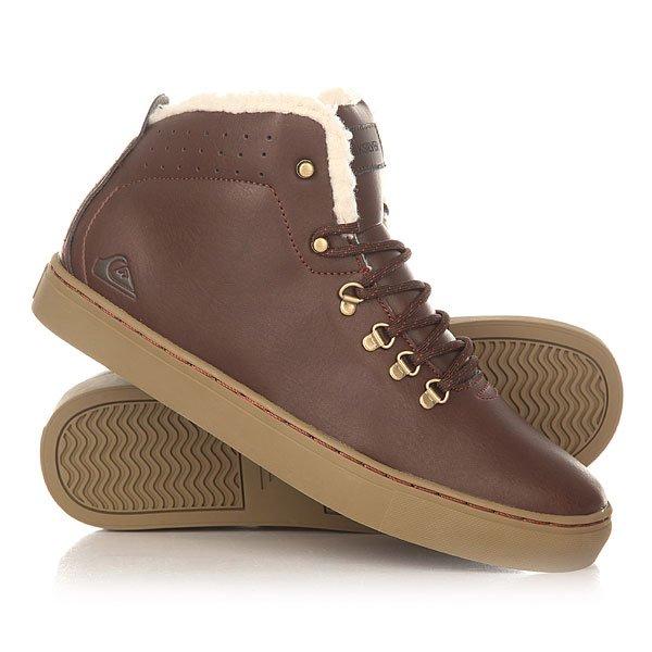 Кеды кроссовки утепленные Quiksilver Jax Deluxe Shoe BrownОбувь<br>Удобные и аккуратные ботинки с бесшовным дизайном носа, выполненные из прочной искусственной кожи и дополненные подкладкой из шерпа-флиса, которая добавляет комфорта, тепла и мягкости. Quiksilver Jax Deluxe станут идеальным вариантом для холодных дней, позволяя составить строгий образ, по сравнению с любимыми кедами.Характеристики:Металлические петли шнуровки и клепки.Подкладка манжета из шерпа флиса. Перфорированный верх. Нашивка с фирменным логотипом на язычке. Конструкция ботинка cupsole. Гибкая резиновая подошва. Материал верха: прочная искусственная кожа.<br><br>Размер EU: 42<br>Размер US: 9<br>Размер CM: 27<br>Размер EU: 40<br>Размер US: 7<br>Размер CM: 25.5<br>Размер EU: 44<br>Размер US: 11<br>Размер CM: 28.5<br>Размер EU: Quik man B: 10us 43eur 27.75cm<br>Размер EU: 41<br>Размер US: 8<br>Размер CM: 26.5<br>Размер EU: Quik man B: 13us 46eur 29.75cm<br>Размер EU: Quik man B: 12us 45eur 29.25cm<br>Цвет: коричневый<br>Тип: Кеды утепленные<br>Возраст: Взрослый<br>Пол: Мужской