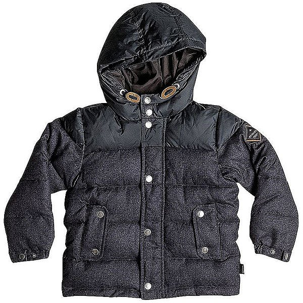 Куртка зимняя детская Quiksilver Woolmore Dark Heather An GreyОдежда<br>Детская куртка Quiksilver из зимней коллекции одежды.Характеристики:Стандартный крой. Контрастная подкладка.Фиксированный капюшон с регулировкой. Боковые карманы для рук.<br><br>Размер EU: 12yrs<br>Размер EU: 10yrs<br>Размер EU: 8yrs<br>Размер EU: 16yrs<br>Размер EU: 14yrs<br>Цвет: черный<br>Тип: Куртка зимняя<br>Возраст: Детский